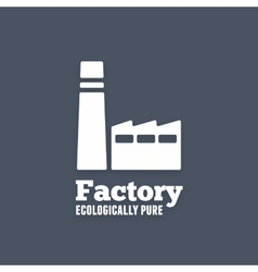 Ecologically pure factory icon or sign vector