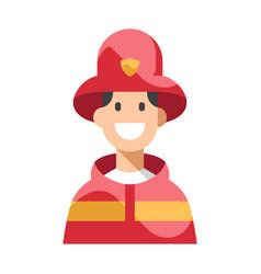 Firefighter flat vector