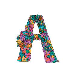 floral a letter color vector image