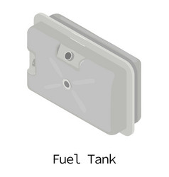 Fuel tank icon isometric 3d style vector