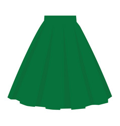 green skirt template design fashion woman women vector image