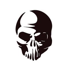 head skull silhouette vector image