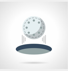 Hit in golf hole flat color icon vector