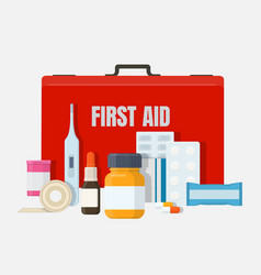Home first aid kit vector