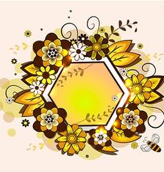 Honey comb vector