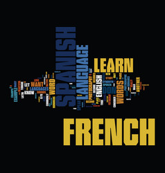 learn a new language should you learn french or vector image