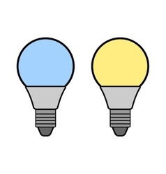 Led bulbs Flat color icon light bulb Energy vector image
