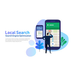Local search marketing ecommerce concept of vector