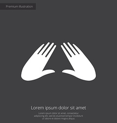 Massage premium icon white on dark background vector