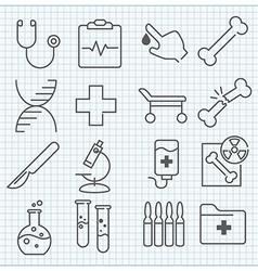 Mecicine icons set vector