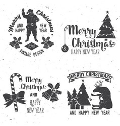 Merry christmas and happy new year 2018 retro vector