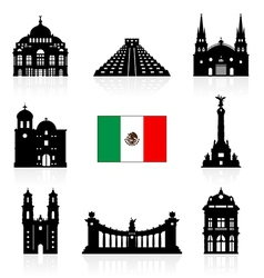Mexico Travel Landmarks vector