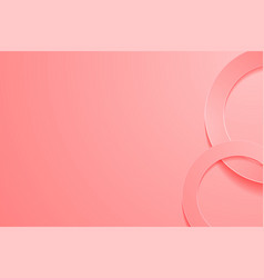 Modern light red backgrounds 3d circle papercut vector