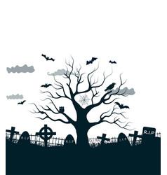 Monochrome halloween background vector