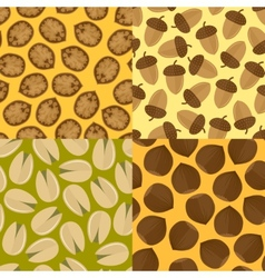Nuts seamless set vector image