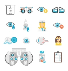 Oculist flat icons vector image