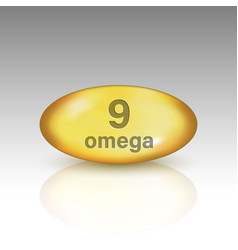 omega 9 vitamin drop pill vector image