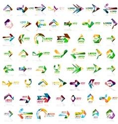 Paper style arrow logos vector image