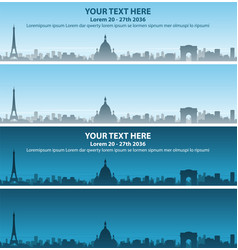 Paris skyline event banner vector