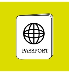 passport icon design vector image