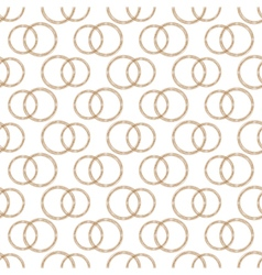 Pattern of stylized copper wire wedding rings vector