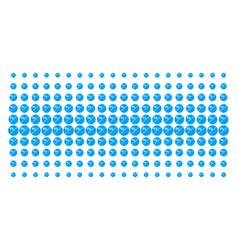 Pharmacy tablet shape halftone pattern vector