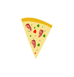 pizza graphic design template isolated vector image