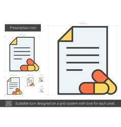 Prescription line icon vector