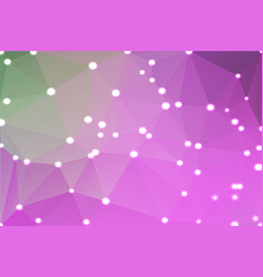 purple green pink geometric background with lights vector image