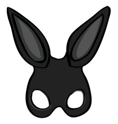 Rabbit mask on white background vector