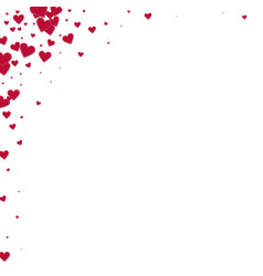 Red heart love confettis valentines day corner p vector