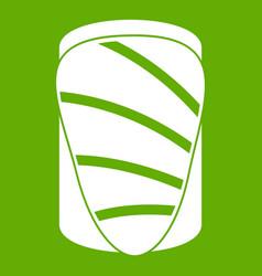 Salmon icon green vector