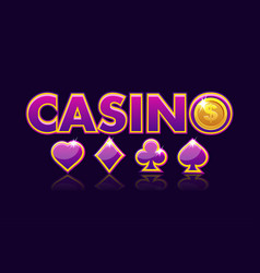 Screen logo casino background gambling icons with vector