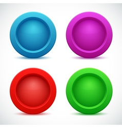 Set colorful web buttons vector