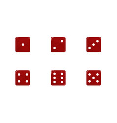 Set white dice vector