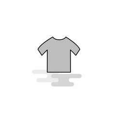 shirt web icon flat line filled gray icon vector image