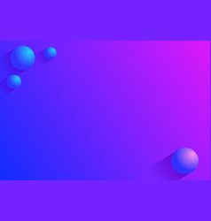 simple abstract 3d balls background vector image