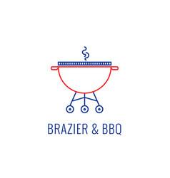 simple bbq emblem vector image