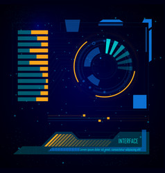 Spaceship sci-fi user interface digital target vector