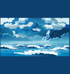 storm at sea vector image