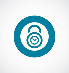 Time lock icon bold blue circle border vector