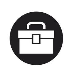 Tools kit box plumbing equipment icon vector