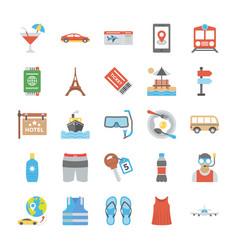travel equipment icon set vector image