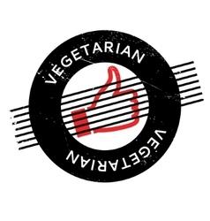 Vegetarian rubber stamp vector image