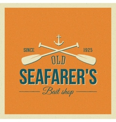 Vintage Nautical Label or Logo with Retro vector image