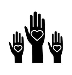 volunteering experience glyph icon vector image
