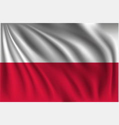 Waving poland vector