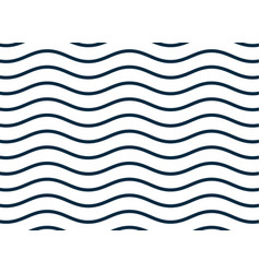 wavy smooth lines pattern background vector image