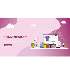 website landing page design ui ux interface vector image