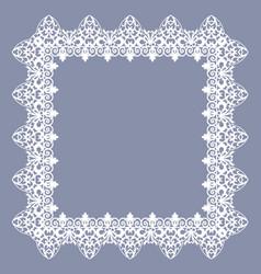 White vintage frame vector